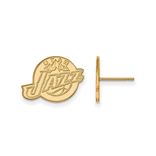 NBA Utah Jazz Post Earrings in 14K Yellow Gold by LogoArt