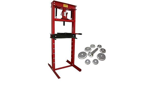 Prensa hidráulica de taller con manómetro 12T sin armazón, 9 adaptadores Prensa para rodamientos: Amazon.es: Bricolaje y herramientas