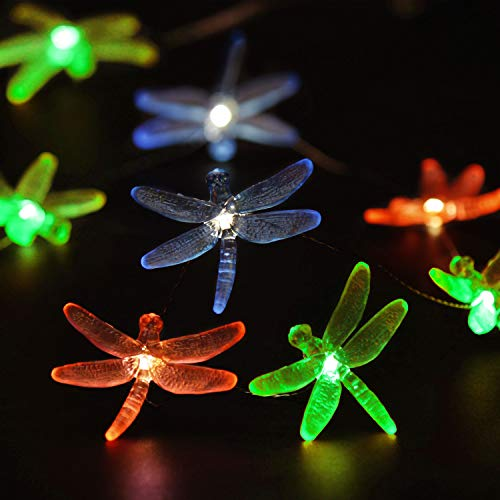Impress Life Decorations String Lights, Dragonfly Plus Fairy Lights Battery-Powered Silver Flexible Wire 10 ft 30 LEDs with Remote for Indoor Outdoor DIY Home Office Birthday Wedding Party Ornamental