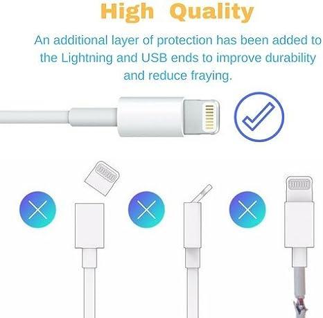 OneCat cable cargador USB para Lighting Cable Compatible For Pad Air, Pad Pro,Pod,Phone 5/6/6 PLUS/7/7PLUS/8/8PLUS/ X