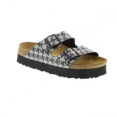 Birkenstock Arizona 364043 (Narrow Fit) Platform - Knotted Black (See