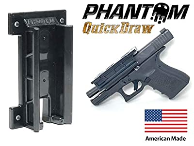 Phantom Quickdraw - Magnetic Gun Mount & Holster - Concealed Tactical Firearm & Gun Magnetic Holder for Truck, Car, Vehicle, Handgun, Pistol - Patent Pending, American Made, Veteran Owned