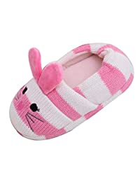 ONCEFIRST Toddler Kids Slippers Cartoon Animal Crochet Shoes