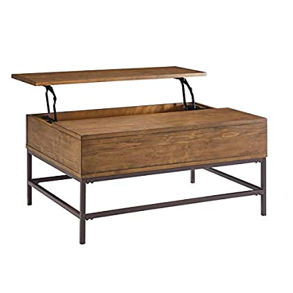 af663da0f9168 Amazon.com  Amherst Brown Pine Lift Top Coffee Table  Kitchen   Dining