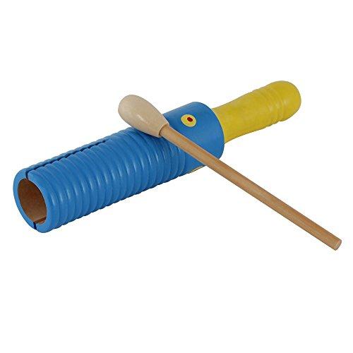 ammoon Corneille en bois de guiro Ailanthus bois enfants instrument de percussion jouet musical enfants (6 couleurs aléatoire livraison)
