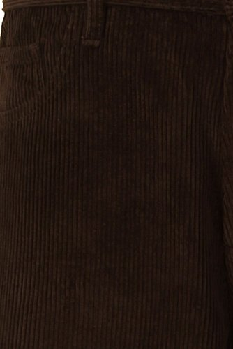 Alexanders of LondonHerren Jeanshose, Einfarbig Braun Chocolate