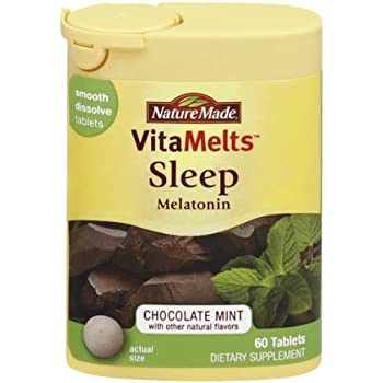 Nature Made Melatonin Vitamelts 3 Mg Sleep Smooth Dissolve Tablet 60 Count