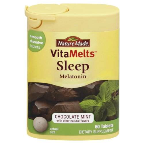 Nature Made mélatonine Vitamelts 3 Mg sommeil Lisse Dissoudre le comprimé 60 comte
