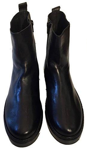 Donna Carolina Damen Stiefel 34.168.131-001 Poncho Nero Gom, Schwarz