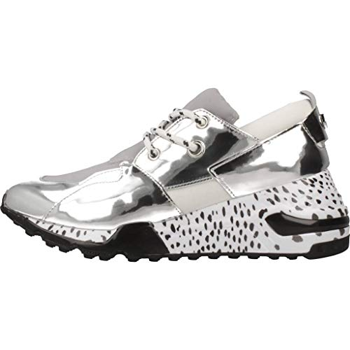 Altas Steve Sneaker Para Zapatillas Cliff Madden silver Mujer Plateado TwwCqB1