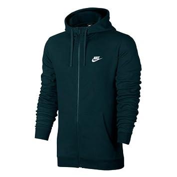 Nike 804391-328 Sweat à Capuche entièrement zippé Homme, Jungle  Profonde Blanc, 24c7faad8482