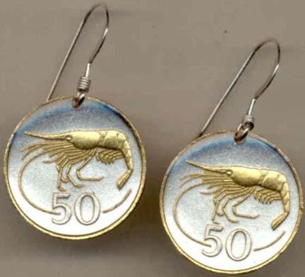 hrimpÓ Two Tone Coin Earrings ()