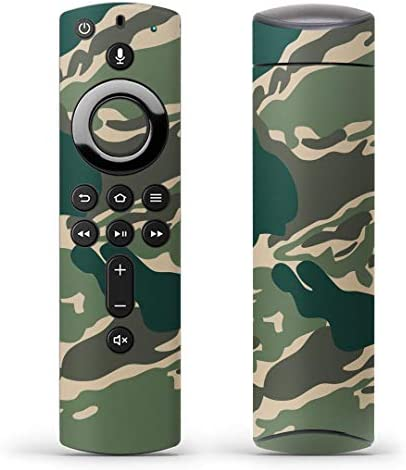 igsticker Fire TV Stick 第2世代 専用 リモコン用 全面 スキンシール フル 背面 側面 正面 ステッカー ケース 保護シール 004049 チェック・ボーダー 迷彩 カモフラ 模様