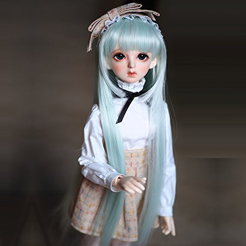 Doll Fur Wig ((15-16cm) 1/6 BJD Doll YOSD Fur Wig Dollfie / Lolita Rainbow Long Wavy Hair / FBE039)