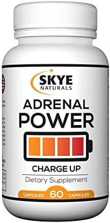 Adrenal Support & Cortisol Manager, Best Supplement to Relieve Anxiety, Fatigue, Increase Energy. Charge Up with Licorice Root, Rhodiola Rosea, L Tyrosine, Holy Basil, Vitamin B6 & Ashwagandha