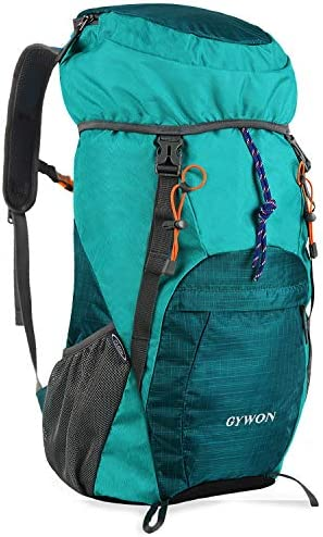 Gywon Lightweight Packable Backpack Travel Hiking Daypack Foldable Carry On Camping Rucksack Shoulder Bag Water Resistant 45L