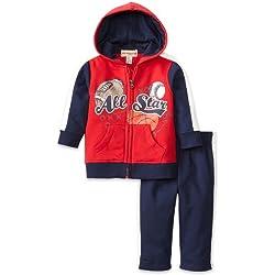 Kids Headquarters Baby Boys' All Sports Two Piece Hoodie Jog Set