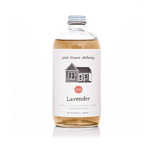 - Pink House Alchemy Lavender Syrup - 16 oz Simple Syrup Cocktail Drink Mix - Use to Flavor Coffee - Hawaiian Shaved Ice - Dessert Topping - Using Only Fresh Flowers - Free Book See Package (L 16)