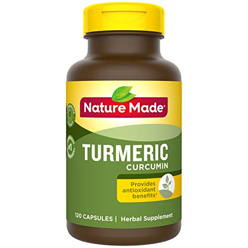 Nature Made Turmeric Curcumin 500 mg Capsules, 120 Count for Antioxidant Support† (Packaging May Vary) (Best Way To Treat Depression)