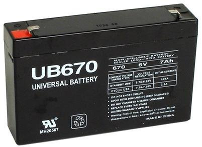 Universal Power Group 6V 7AH SLA Battery Replacement Mercedes-Benz SLS AMG Rastar 6V