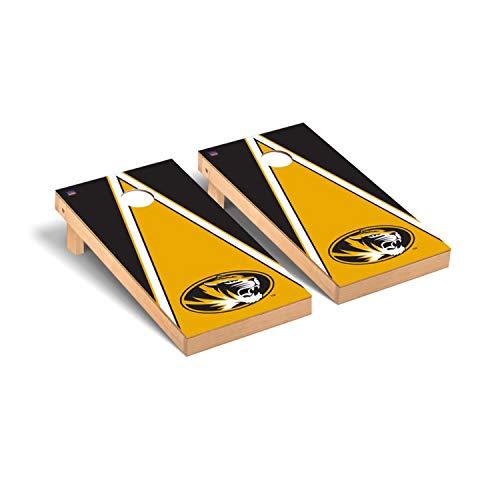 Victory Tailgate Regulation Collegiate NCAA Triangle Series Cornhole Board Set - 2 Boards, 8 Bags - Missouri Mizzou Tigers