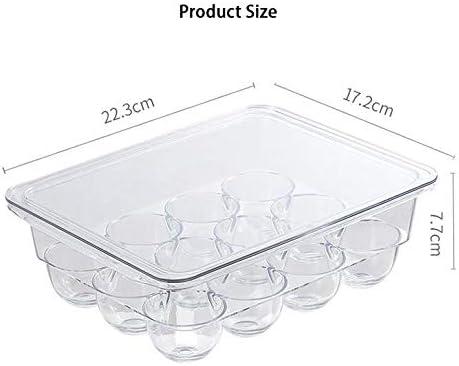 per conservare 12 uova per cucina e frigorifero vassoio per uova con coperchio contenitore per uova trasparente LXTaoler Portauovo per frigorifero