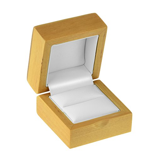 Geff House Maple Wood Ring Jewelry Gift Box by Geff House (Image #1)