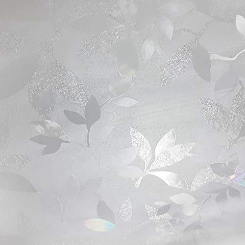 Leaves and Berries Window Film Privacy No Residue - Peel And Stick Indoor Outdoor Decorative Home Bathroom Shower Living Room Business Office Meeting Room Glass Door Film Decor (.3, 35