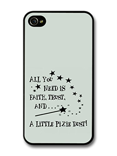 Peter Pan Tinker Bell Pixie Dust Animation Movie Quote coque pour iPhone 4 4S