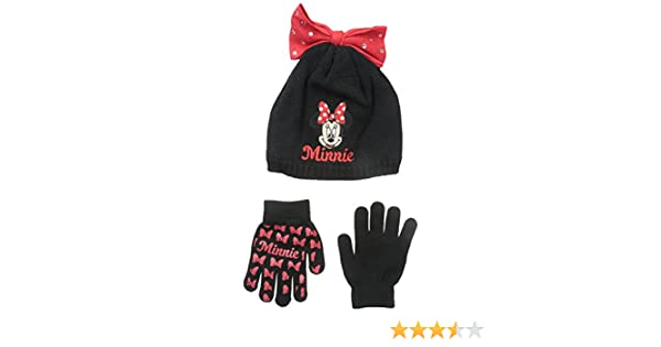 best sneakers 2597e b0a4d Amazon.com  Disney Girls  Minnie Mouse Bow Hat and Glove Set, Red, One  Size  Clothing