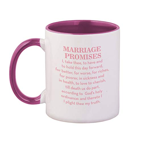 Style In Print Soft Pink Marriage Promises I Take Three to Have and to Hold This Day Forward for Better Ceramic Cup Colored Mug - Pink -