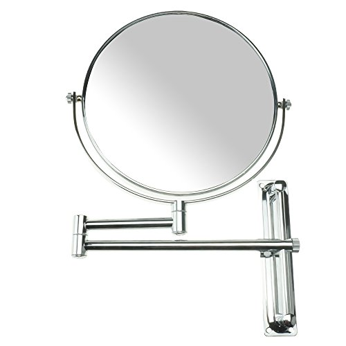 Lansi 10x Magnifying Wall Mounted Makeup Mirror,10X Magnification Makeup Mirror Adjustable Height -