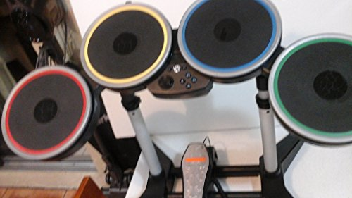 - Nintendo Wii Rock Band 2 Wireless Drum Set with Pedal, Stand and Dongle