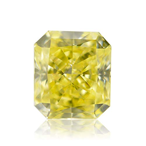 Leibish & Co 0.52 Carat Fancy Yellow Loose Diamond Natural Color Radiant Cut GIA Certificate ()