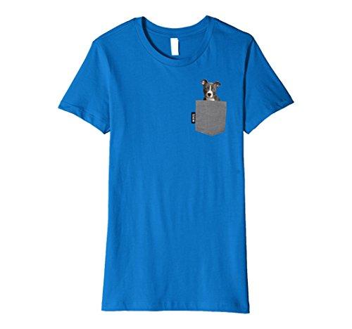 Blue Pit - Womens Blue Nose Pitbull Pocket Pet Tshirt Medium Royal Blue