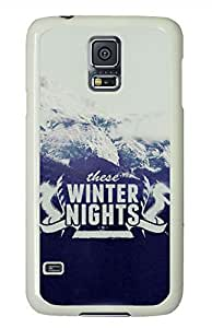 These Winter Nights White Hard Case Cover Skin For Samsung Galaxy S5 I9600