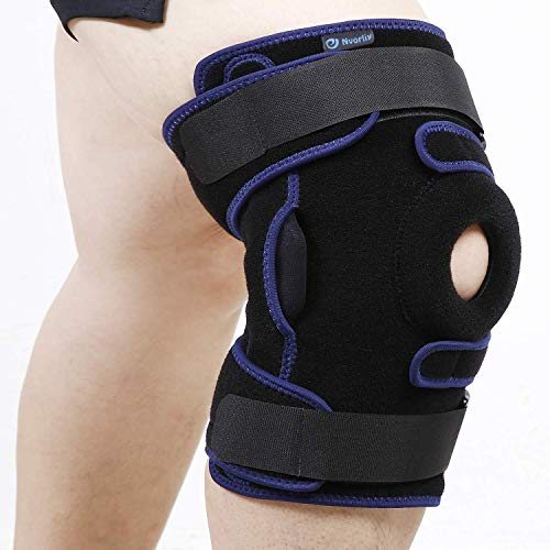 Nvorliy Plus Size Hinged Knee Brace Dual Strap Patellar Stabilization Design & High-Level Support For Arthritis, ACL, LCL, MCL, Meniscus Tear, TDislocation, Post-Surgery Recovery Fit Men & Women (2XL)