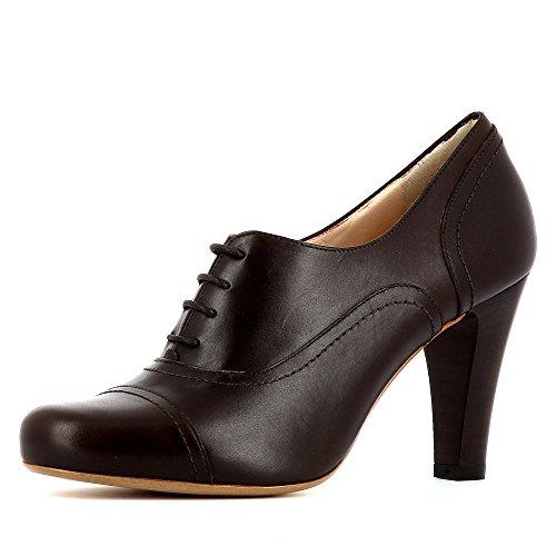 Evita Shoes Maria - Zapatos de cordones de Otra Piel para mujer marrón oscuro