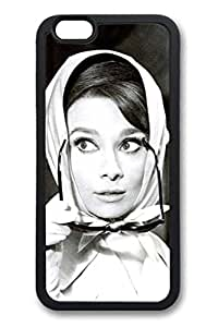 TPU Black Color Case For iPhone 6 Plus Soft And Nice Design iPhone Case Latest style Case Suit iPhone 6 Plus 5.5 Inch Ultra-thin Case Easy To Operate Audrey Hepburn 43
