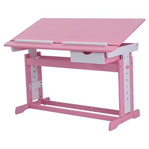 Kinderschreibtisch Kindermöbel Kinderzimmer Kindertisch Schreibtisch Schnülerschreibtisch Computertisch Bürotisch neigungsverstellbar höhenverstellbar Farbewahl (Rosa)