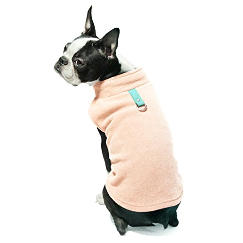 Gooby – Fleece Vest, Small Dog Pullover Fleece Jacket with Leash Ring, Peach, X-Small For Sale