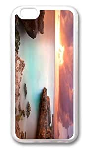 Adorable coral rock sunset Soft Case Protective Shell Cell Phone Cover For Iphone 5C (5.5 Inch) - TPU Transparent hjbrhga1544
