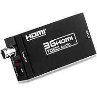 Mirabox 1080P MINI 3G HDMI to SDI Converter BNC Port SDI/HD SDI/3G SDI Signal for Home Theater, Black (US Two-Pin Plug)