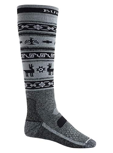 (Burton Men's Performance Midweight Sock, Black Heather, Large)