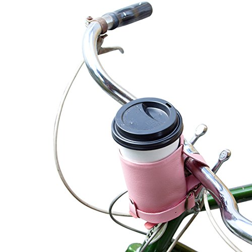 Cruzy Leather Bike Cup Holder Handmade by Hide & Drink :: Florida - Street Park Shops Main City