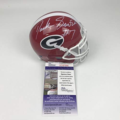 Autographed/Signed D'Andre Swift Georgia Bulldogs College Football Mini Helmet JSA ()