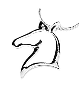 Open Horse Head Silver Pendant My Little Pony Necklace Jewelry for Girls Teen Girls