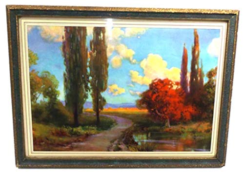 Vintage Atkinson Fox Landscape Print in Period Picture Frame