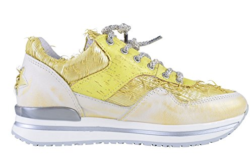 Gold 2Star Shoes Women's Yellow Leather Sneaker 38 jSlNqYtp1