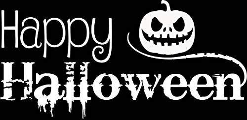 PanWenJuan -Happy Halloween Quote. Vinyl Wall Art Sticker
